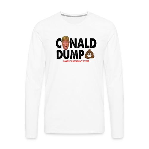 Conald Dump Worst President Ever - Men's Premium Long Sleeve T-Shirt