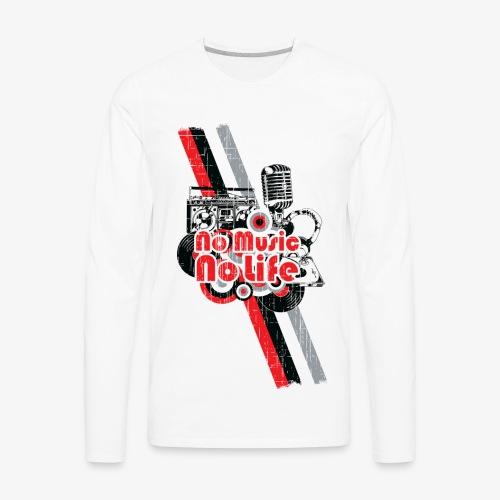NO MUSIC - Men's Premium Long Sleeve T-Shirt