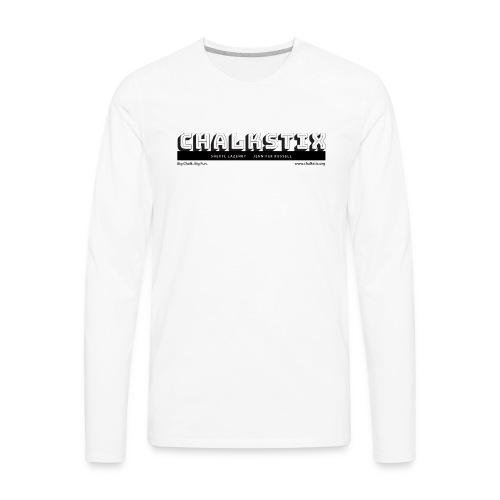 chalkstix logo BLACK - Men's Premium Long Sleeve T-Shirt