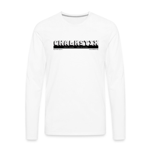 chalkstix logo BLACK - Men's Premium Long Sleeve T-Shirt