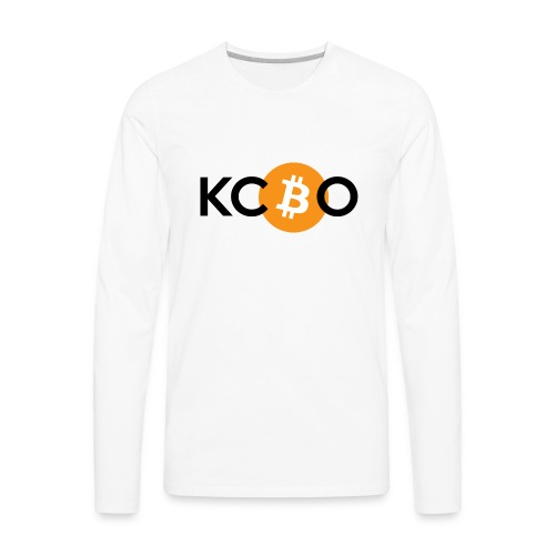 kcbo logo light - Men's Premium Long Sleeve T-Shirt