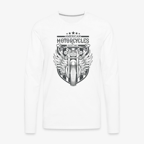 American Motor Cycles - Men's Premium Long Sleeve T-Shirt