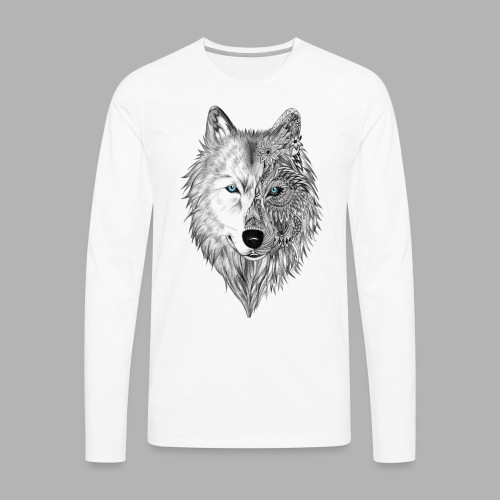 Mandala Wolf - Men's Premium Long Sleeve T-Shirt