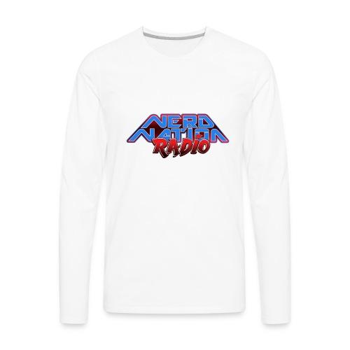Nerd Nation Logo - Men's Premium Long Sleeve T-Shirt