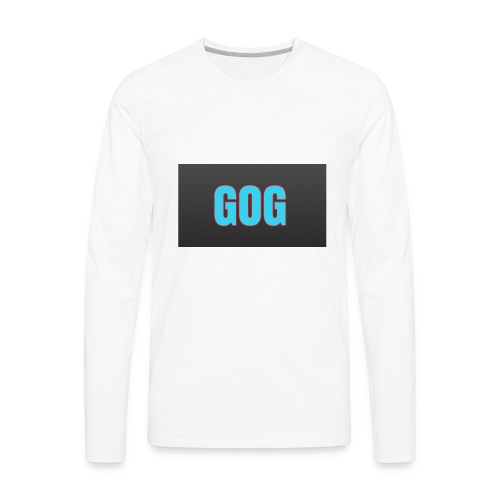 The simple gog T-shirt - Men's Premium Long Sleeve T-Shirt
