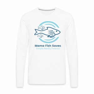 Mama Fish Saves Logo Print - Men's Premium Long Sleeve T-Shirt