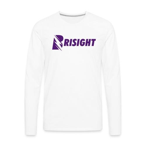 BRISIGHT CLASSIC PURPLE TEXT - Men's Premium Long Sleeve T-Shirt