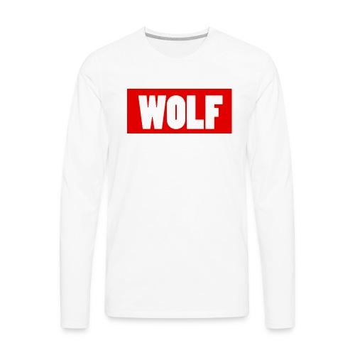 #Wolf - Men's Premium Long Sleeve T-Shirt
