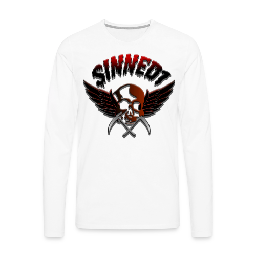 Sinned1 Dripping Text - Men's Premium Long Sleeve T-Shirt