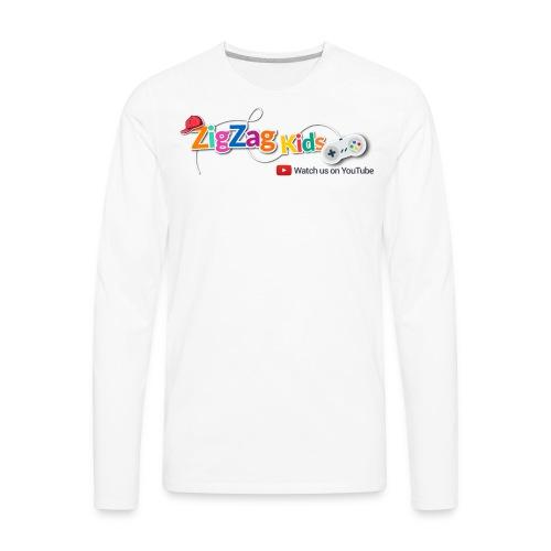 ZigZag Kids Logo Shop - Men's Premium Long Sleeve T-Shirt