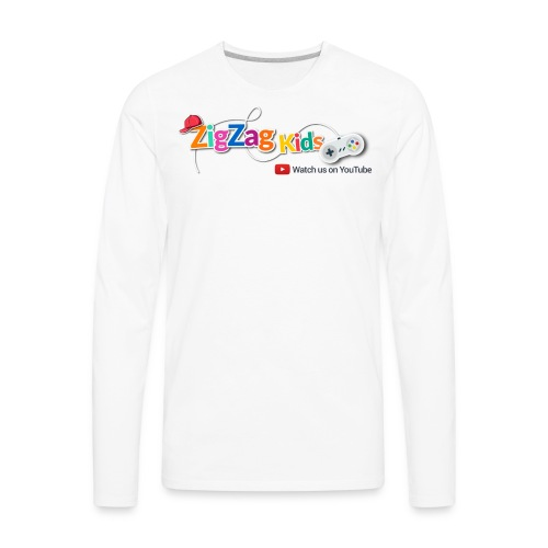 ZigZag Kids Logo Shop - Men's Premium Long Sleeve T-Shirt