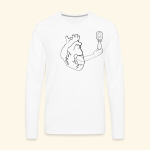 Wounded Heart - Men's Premium Long Sleeve T-Shirt