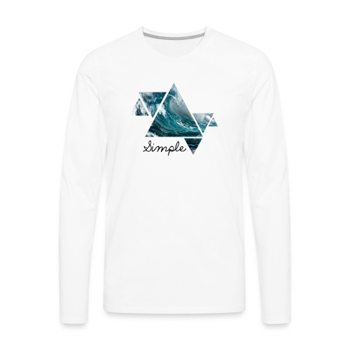Wave logo(Simple) - Men's Premium Long Sleeve T-Shirt