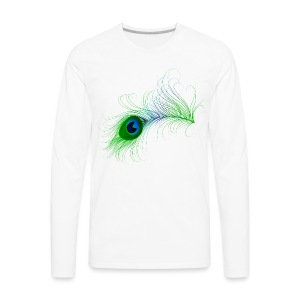 Peacock Feather - Men's Premium Long Sleeve T-Shirt