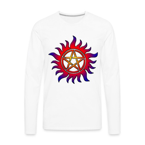 Anti Possession Symbol Sun Fire - Men's Premium Long Sleeve T-Shirt