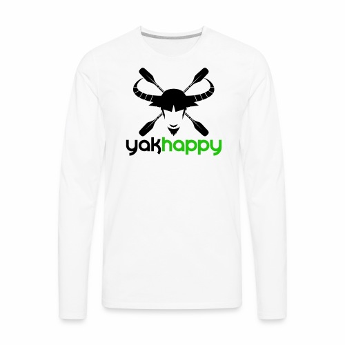 Yakhappy Logo - Men's Premium Long Sleeve T-Shirt
