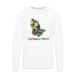 sirjunglesponge floral - Men's Premium Long Sleeve T-Shirt