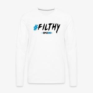 #Filthy white - Spizoo Hashtags - Men's Premium Long Sleeve T-Shirt