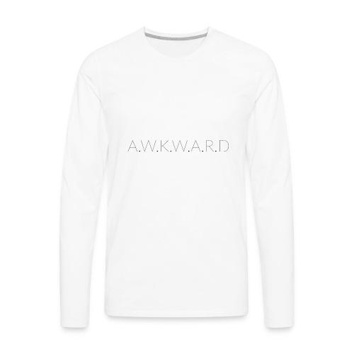 AWKWARD - Men's Premium Long Sleeve T-Shirt
