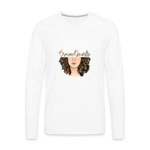 CrownNCurls - Men's Premium Long Sleeve T-Shirt