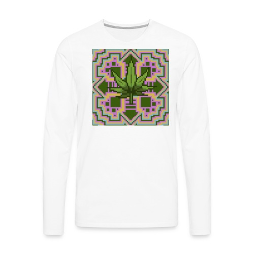 Trippy Marry Jay Leaf - Men's Premium Long Sleeve T-Shirt