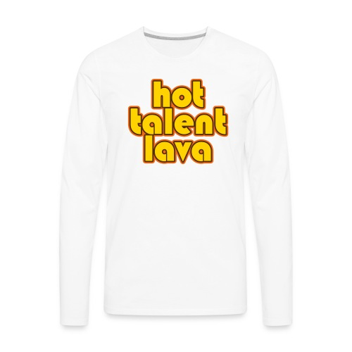 Hot Talent Lava - Yellow Letters - Men's Premium Long Sleeve T-Shirt