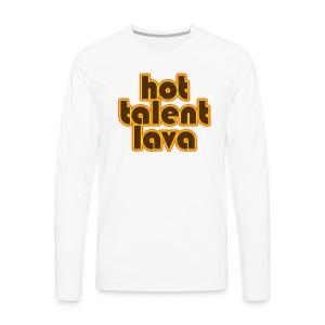 Hot Talent Lava - Brown Letters - Men's Premium Long Sleeve T-Shirt