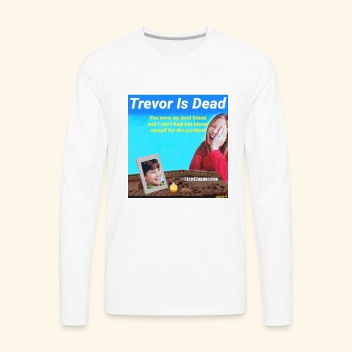 Trevor Is Dead Connect 4 Meme Design - Men's Premium Long Sleeve T-Shirt