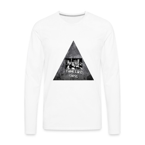 Think Like Chess Logo - Men's Premium Long Sleeve T-Shirt