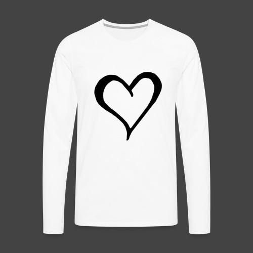 Heart Sketch - Men's Premium Long Sleeve T-Shirt
