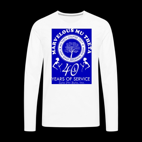 Mu Theta 40th anniversary celebration - Men's Premium Long Sleeve T-Shirt