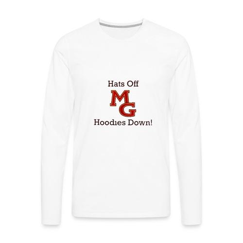 Maple Grove Hats Off Hoodies Down! - Men's Premium Long Sleeve T-Shirt