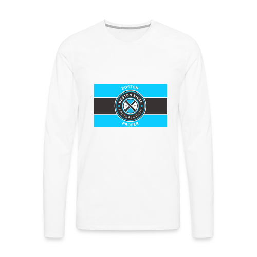 Boston Proper Flag Design - Men's Premium Long Sleeve T-Shirt
