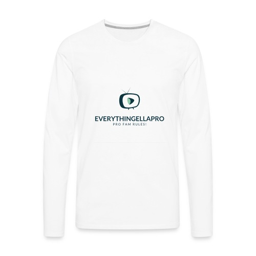 EverythingEllaPro Cool TV Video Logo - Men's Premium Long Sleeve T-Shirt