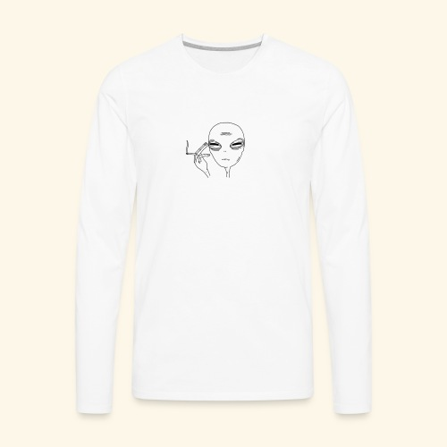 JFA Smoking alien - Men's Premium Long Sleeve T-Shirt