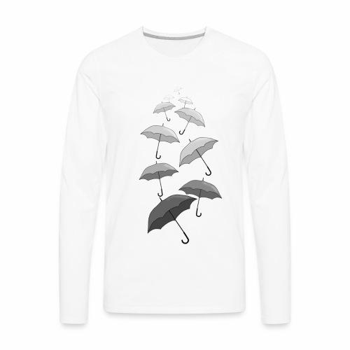 Raining Black and White Umbrellas - Men's Premium Long Sleeve T-Shirt