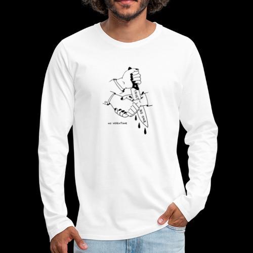no trust no valentiine - Men's Premium Long Sleeve T-Shirt