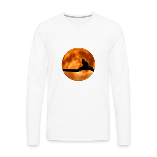 Cool Halloween Cat wear. Great gift! - Men's Premium Long Sleeve T-Shirt