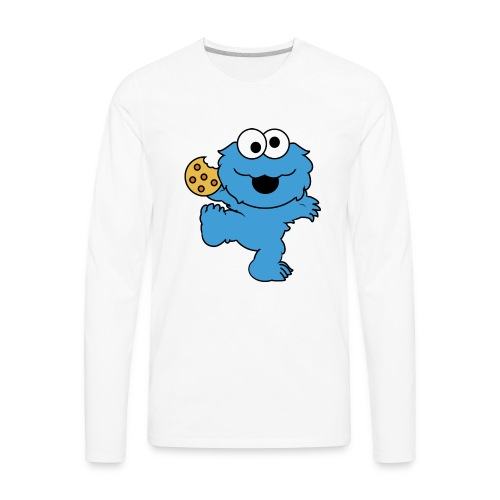 Dancing cookie monster mug - Men's Premium Long Sleeve T-Shirt