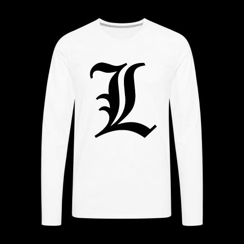 L lettering - Men's Premium Long Sleeve T-Shirt