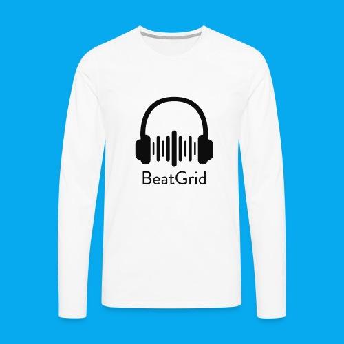 BeatGrid Classic Black Logo - Men's Premium Long Sleeve T-Shirt