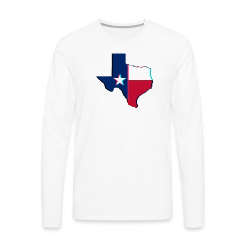 3D Texas - Men's Premium Long Sleeve T-Shirt
