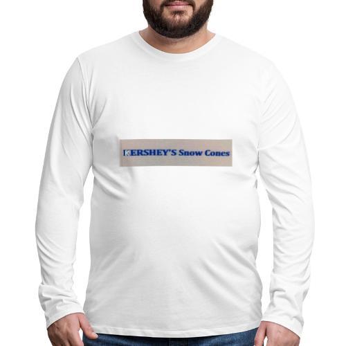 KERSHEYS Snow Cones - Men's Premium Long Sleeve T-Shirt