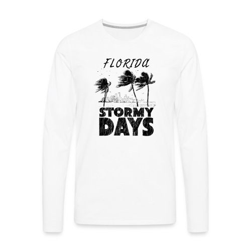 Florida Irma Hurricane Tornado Storm USA 2017 - Men's Premium Long Sleeve T-Shirt