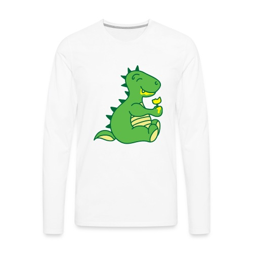 Dinosaurs Love Ice Cream - Men's Premium Long Sleeve T-Shirt