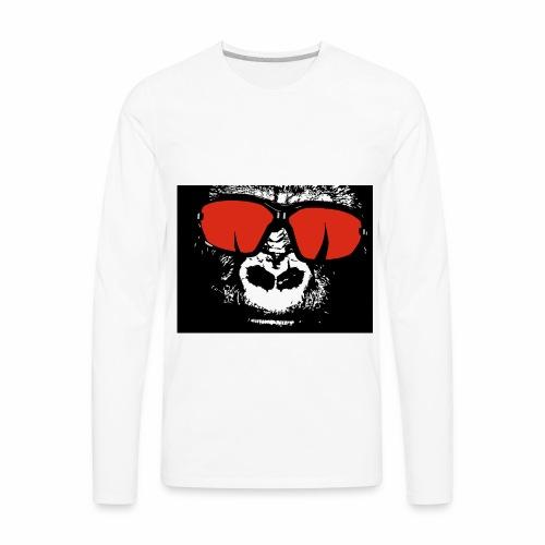 gorilla with shades - Men's Premium Long Sleeve T-Shirt