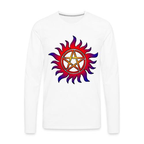 Anti Possession Symbol Sun Fire - Men's Premium Long Sleeve T-Shirt