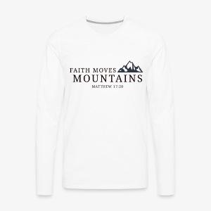 Matthew 17:20 - Men's Premium Long Sleeve T-Shirt