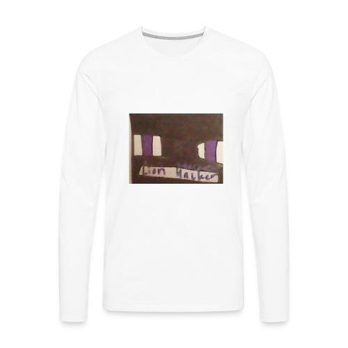 Lion haker t-shirt - Men's Premium Long Sleeve T-Shirt