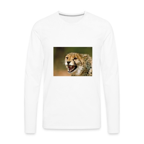 cheetah big cat - Men's Premium Long Sleeve T-Shirt